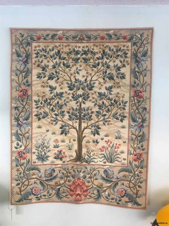 gobeläng väggobeläng textil tyggobeläng textilgobeläng tyg väggprydnad väggtyg william morris tree of life livets träd (5)