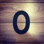 0 - Siffra i gjutjärn - Siffran NOLL inkl. 2 skruvar och brickor