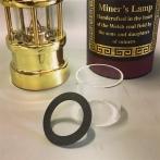 Extraglas + packning till minsta gruvlyktan 17 cm Miner's Lamp