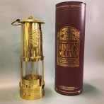 Gruvlykta Miner's Lamp - mässing - stor 26 cm