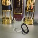 Extraglas + packning till mellersta gruvlyktan 22 cm Miner's Lamp