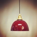 Skålformad lampa med tygsladd (äldre)