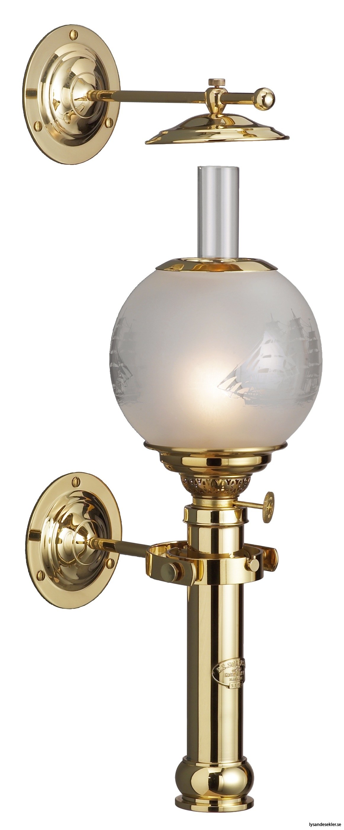 captains cabin lamp dansk fotogenlampa sorensen mässing