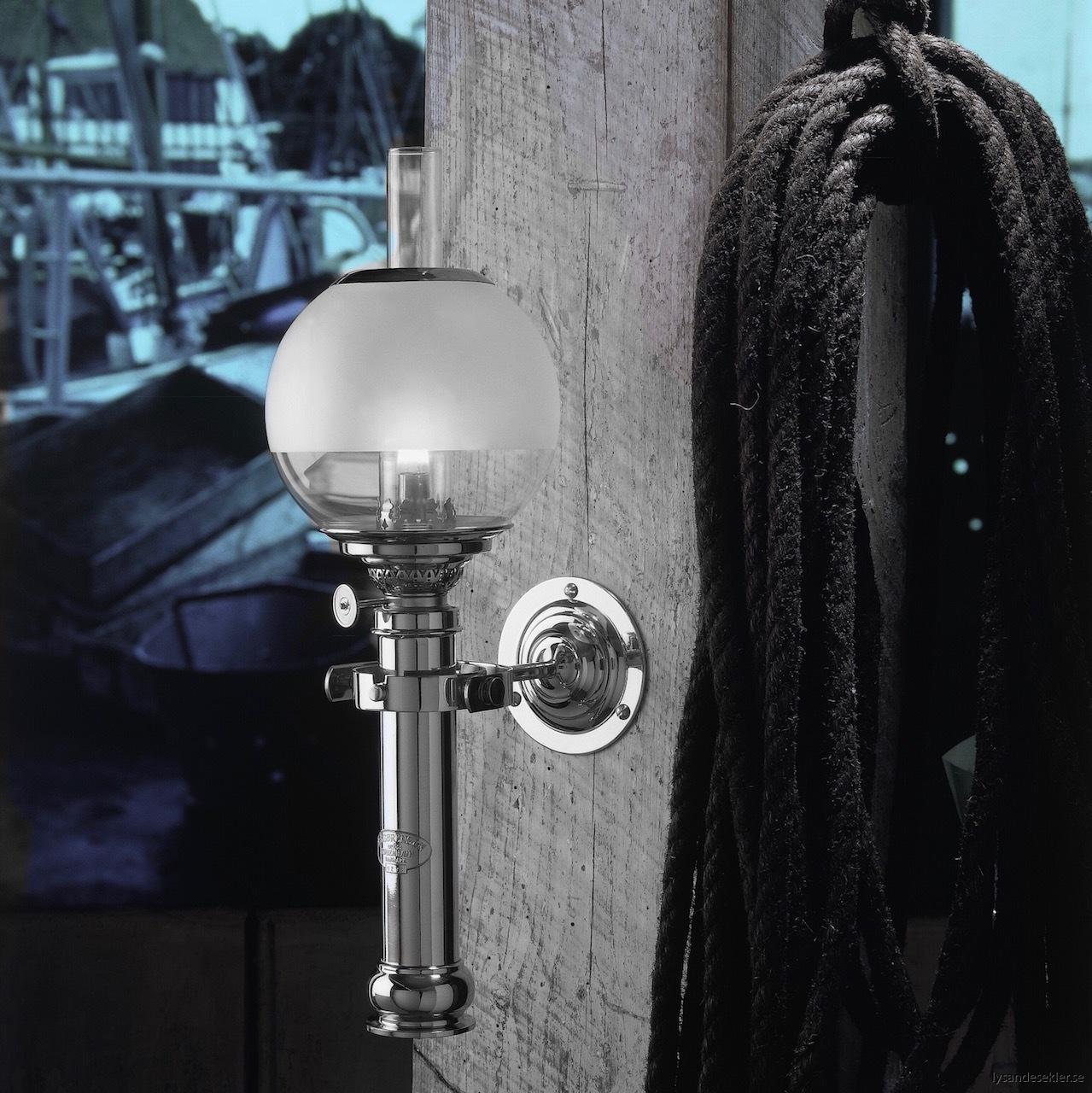 captains cabin lamp sorensen dansk fotogenlampa krom