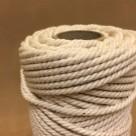Oblekt bomull 4 mm snöre - 500 gram på rulle