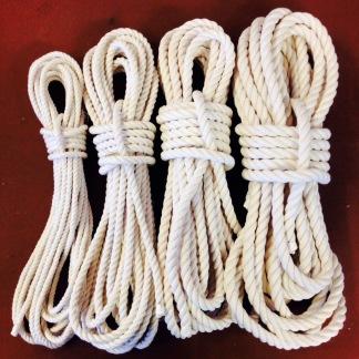 12 mm rep i oblekt bomull - 10 meter 12 mm rep i oblekt bomull