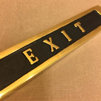 Mässingsskylt: Exit - Skylt mässing: Exit