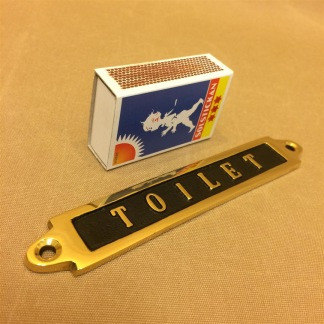 Mässingsskylt: Toilet - Skylt mässing: Toilet liten