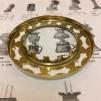 14''' kupring (yttermått: 70 - 85 mm)  (Reservdelar till fotogenlampor) - 14''' - 85 mm kupring polerad mässing