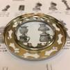 14''' kupring (yttermått: 70 - 85 mm)  (Reservdelar till fotogenlampor) - 14''' - 85 mm kupring förnicklad mässing