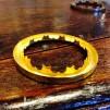 14''' kupring (yttermått: 70 - 85 mm)  (Reservdelar till fotogenlampor) - 14''' - 70 mm kupring polerad mässing