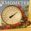 Stor mässingstermometer - Fin mässingstermometer