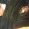Läderremmar 1 meter - Läderrem svart cirka 1 meter
