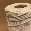 Oblekt bomull 2,5 mm snöre (makramé) - 500 gram på rulle