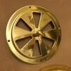 Rosettventil 125 mm i mässing - Rosettventil polerad mässing