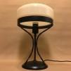 Strindbergslampa 235mm vanilj - Strindbergslampa svart järn + gulvit klassisk skärm