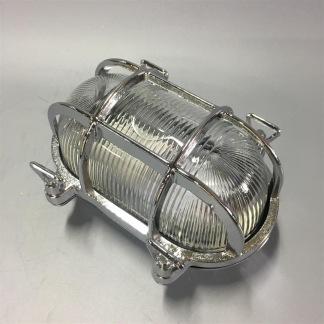Oval gallerarmatur liten - krom - Liten 175 x 130 mm förkromad mässing