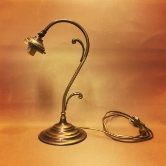 Jugendlampan endast fot - Jugendlampans fot i antikoxiderad mässing