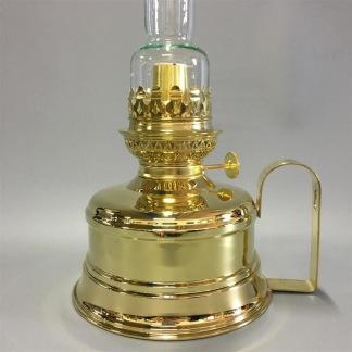 Brasserielampan 14''' mässing 33 cm - Brasserielampan polerad mässing RAKT 21 cm linjeglas