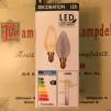 Glödlampa kron LED 2W - E14