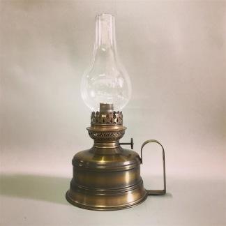Brasserielampan 14''' antikoxiderad 30 cm - Brasserielampan antikoxiderad mässing LÖKFORMAT linjeglas