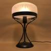 Strindbergslampa 235mm slipad frostad - Strindbergslampa svart järn + slipad frostad klassisk skärm