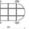 Oval gallerarmatur stor - mässing