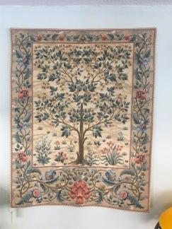 Gobeläng i jugend (William Morris) - BEIGE gobeläng Livets Träd