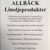 Linoljevax svart 2 dl