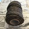 Tjärat snöre dubbeltvinnat polerat - Rulle tjärad hampa 6/2 (ca 3 mm)