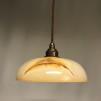 Retrolampa med tygsladd (äldre) - Äldre lampskärm + tygsladd brun med 2 ringar