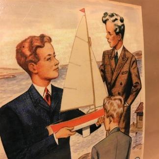 Plåtskylt: Söderbergs gosskläder - Skylt plåt Söderbergs gosskläder