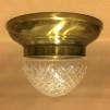 Taklampa ampelplafond slipad/antik 31 cm - Taklampa plafond antik + slipad ampelskärm 200 mm