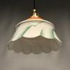 Kökslampa med tygsladd (äldre) - Äldre lampskärm + tygsladd svart med klofäste