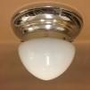 Taklampa ampelplafond opalvit/nickel 31 cm