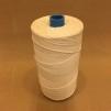 Oblekt bomull 0,8 mm mattvarp - 500 gram på rulle - Rulle 0,5 kg oblekt bomull 12/6 mattvarp
