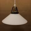 Skomakarlampa med matt glas Ø 20 cm - Matt vit 20 cm skomakarskärm + 390 cm sladdupphäng med väggkontakt