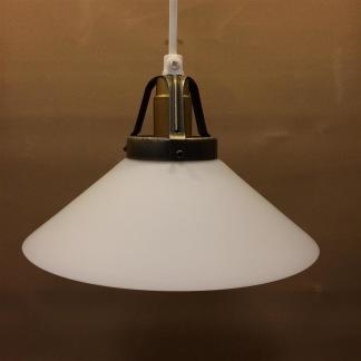 Skomakarlampa med matt glas Ø 20 cm - Matt vit 20 cm skomakarskärm + 130 cm sladdupphäng med klippt sladd (för tak)