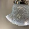 Opalinglas-lampa med tygsladd (äldre)