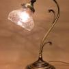 Jugendlampan med slipad glasklar klockskärm