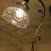 Jugendlampan med slipad glasklar klockskärm - Jugendlampan med slipad glasklar klockskärm