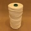 Oblekt bomull 1,6 mm snöre - 500 gram på rulle - Rulle 0,5 kg oblekt bomull 12/24