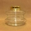 14''' oljehus glas/mässing (Oljehus till fotogenlampor)