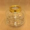 14''' oljehus glas/mässing (Oljehus till fotogenlampor) - 14''' oljehus glas och polerad mässing