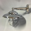 Väggmonterad gallerarmatur med rak arm - krom