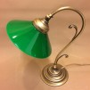 Jugendlampan med stor grön skomakarskärm - Jugendlampan stor grön skomakarskärm