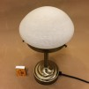 Strindbergslampa mini med vitmarmorerad skärm - Strindbergslampa liten vitmelerad