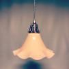 Volanglampa i glas med tygsladd (äldre)