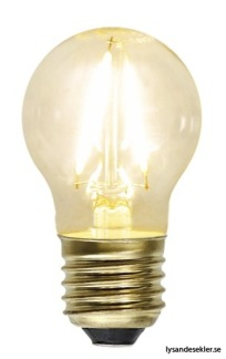 Volanglampa i glas med tygsladd (äldre) - TILLVAL: Glödlampa LED E27 litet klot