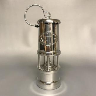 Gruvlykta Miner's Lamp - nickel - liten 17 cm - Minsta gruvlyktan i förnicklad mässing och aluminium